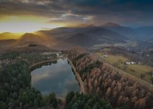 Lago di Meugliano - Tramonto in Valchiusella (ph.Claudio Aimone)